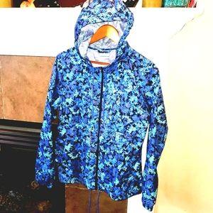 COLUMBIA Camo Full Zip Hoodied Windbreaker Jacket